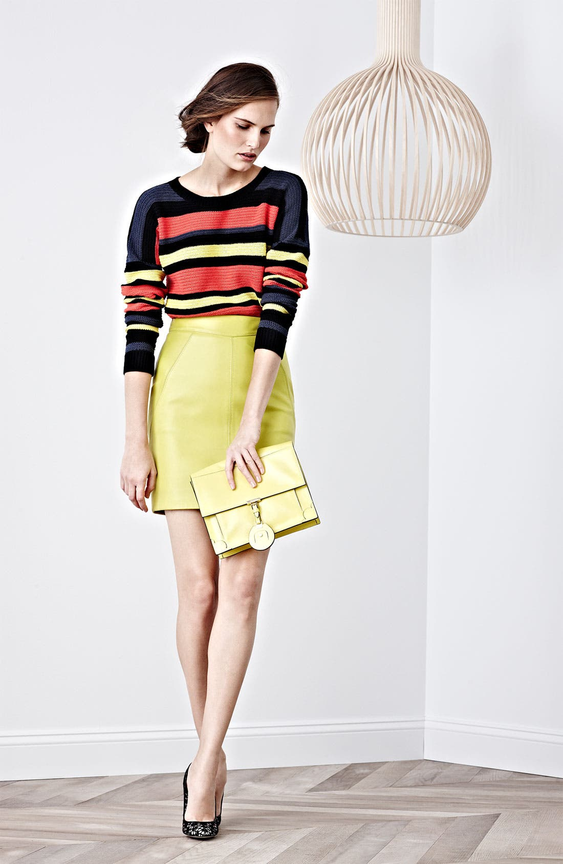 Alternate Image 4  - Jason Wu Nappa Leather Pencil Skirt