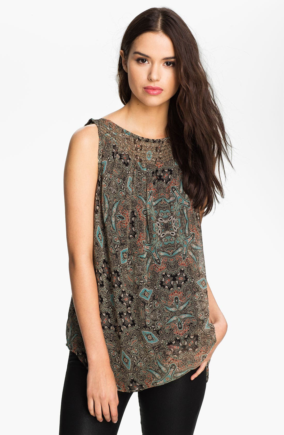 Alternate Image 1 Selected - Ella Moss 'Mystic' Print Smocked Tank