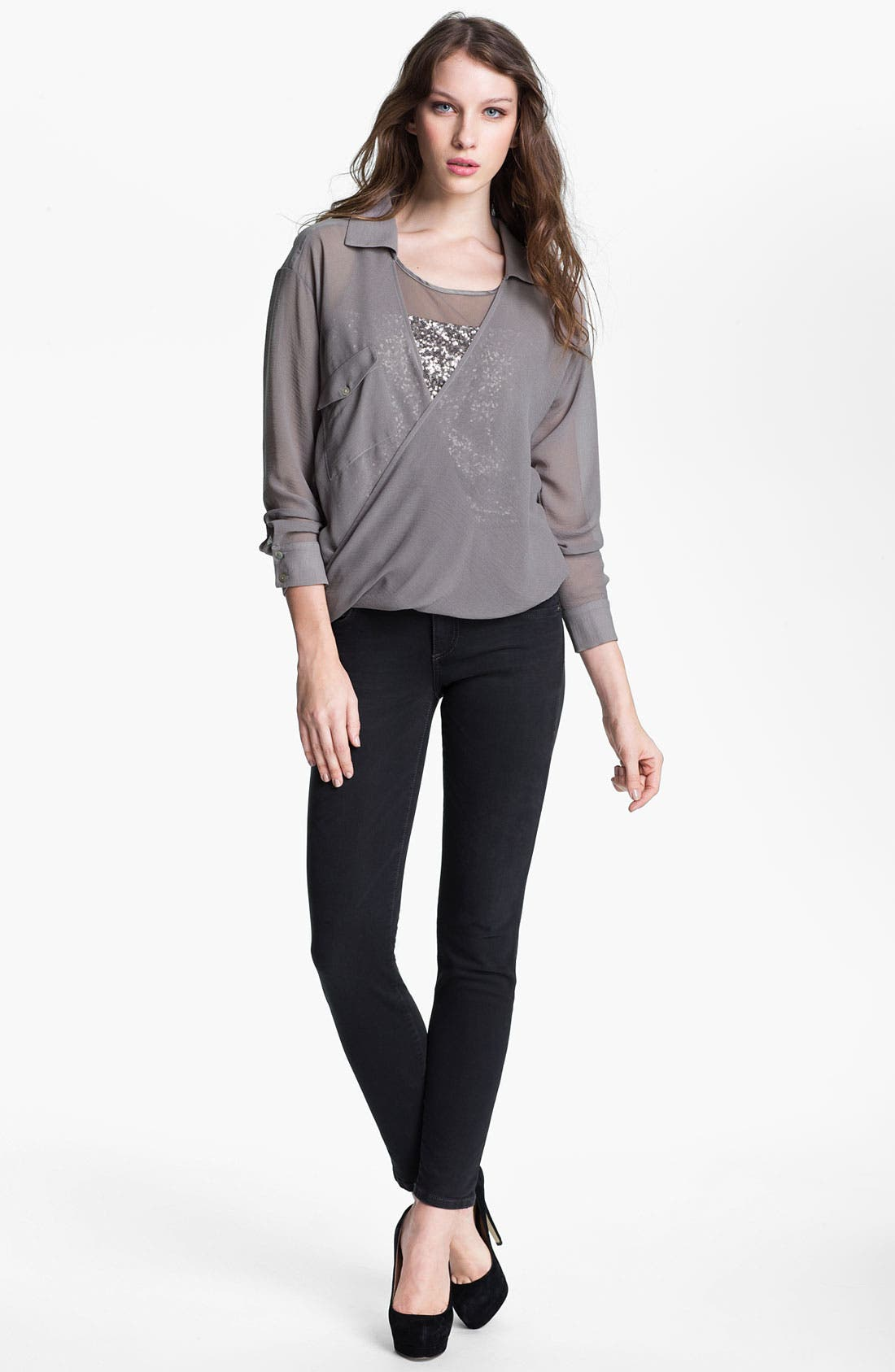 Alternate Image 4  - KUT from the Kloth 'Diana' Skinny Jeans (Heavenly)