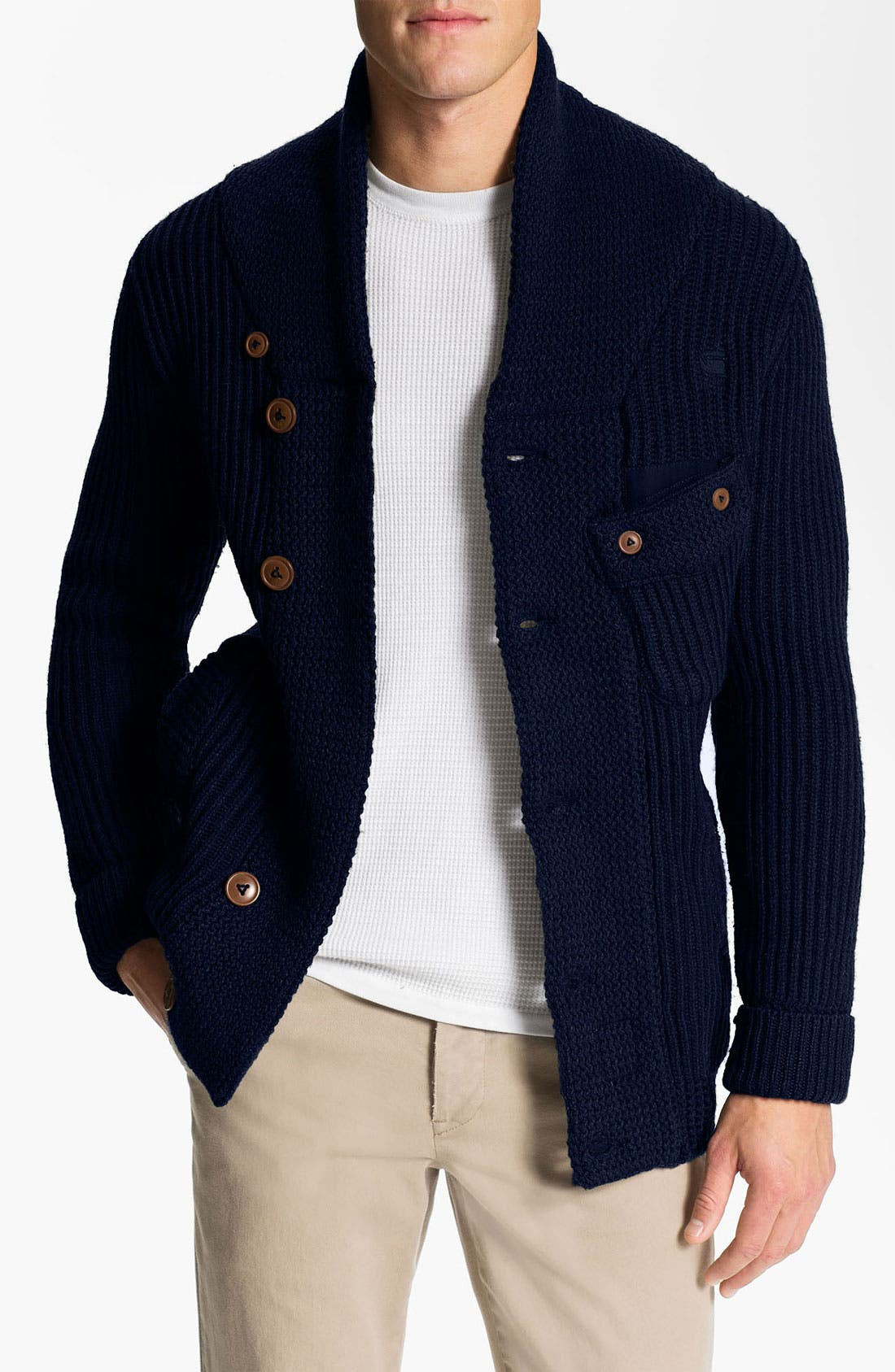Main Image - G-Star Raw 'Oxford' Shawl Collar Sweater