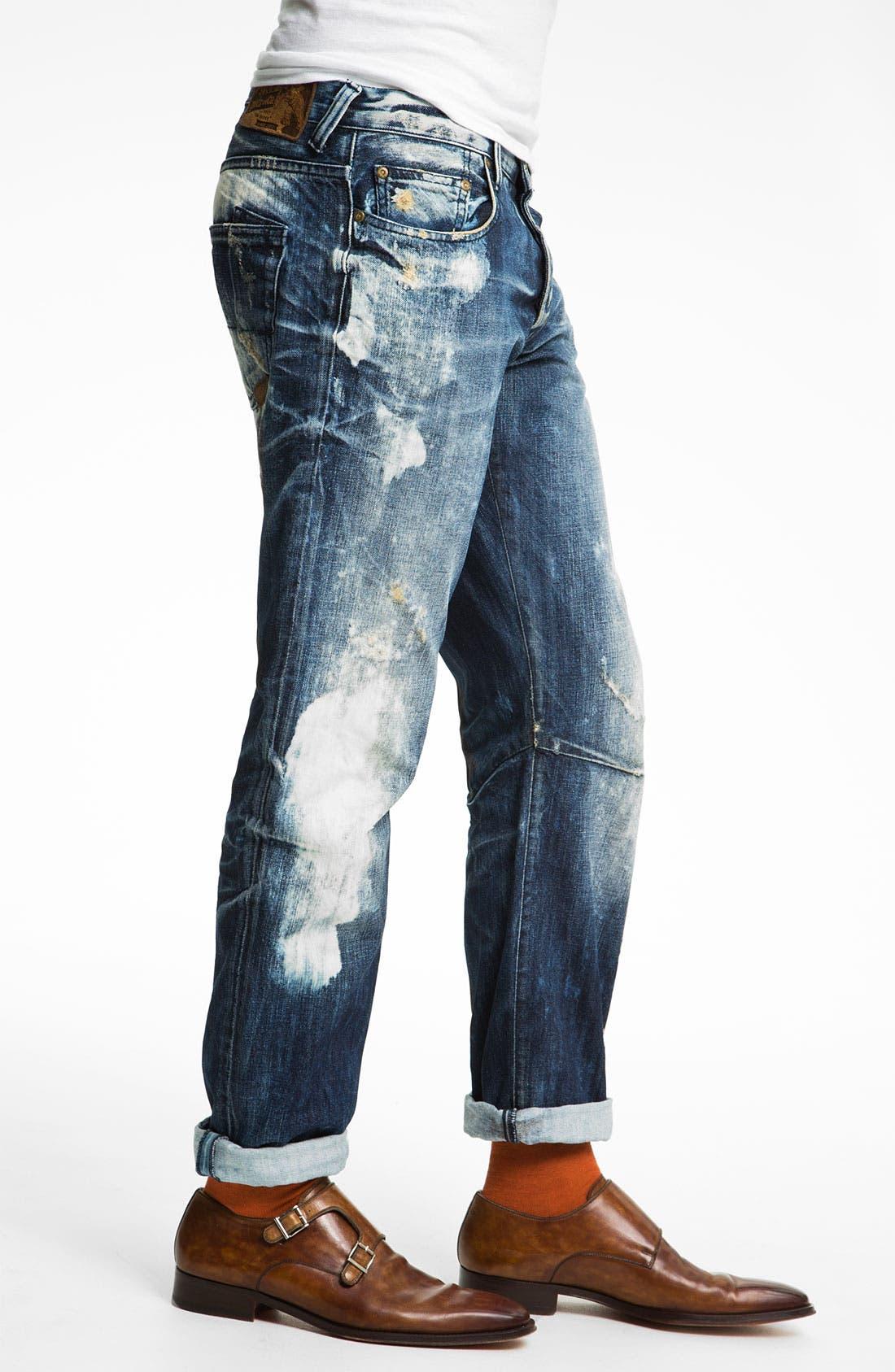 Alternate Image 3  - PRPS 'Valley of Silence Barracuda' Straight Leg Jeans (Indigo)