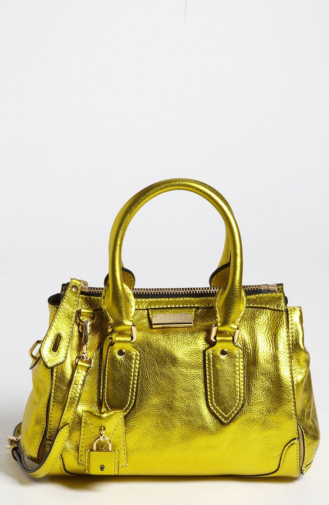 Alternate Image 1 Selected - Burberry 'Soft Grainy Metallic' Leather Satchel