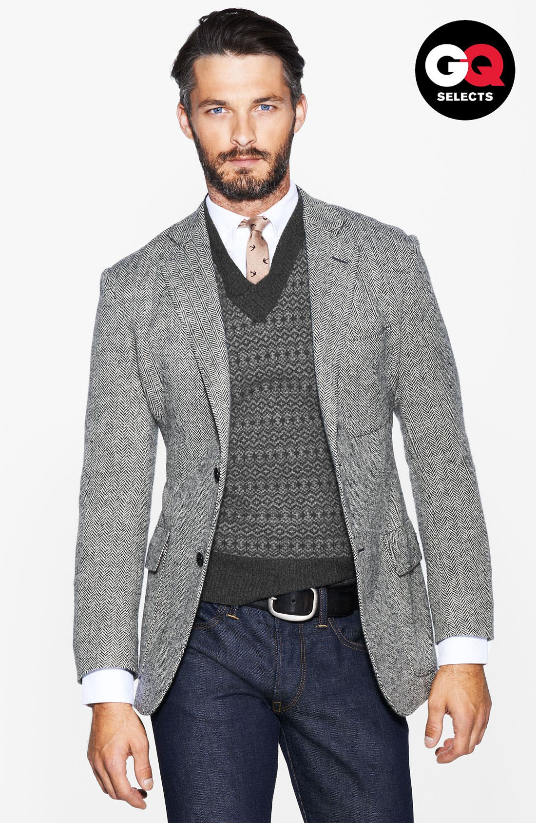 Alternate Image 1 Selected - Todd Snyder Herringbone Sportcoat