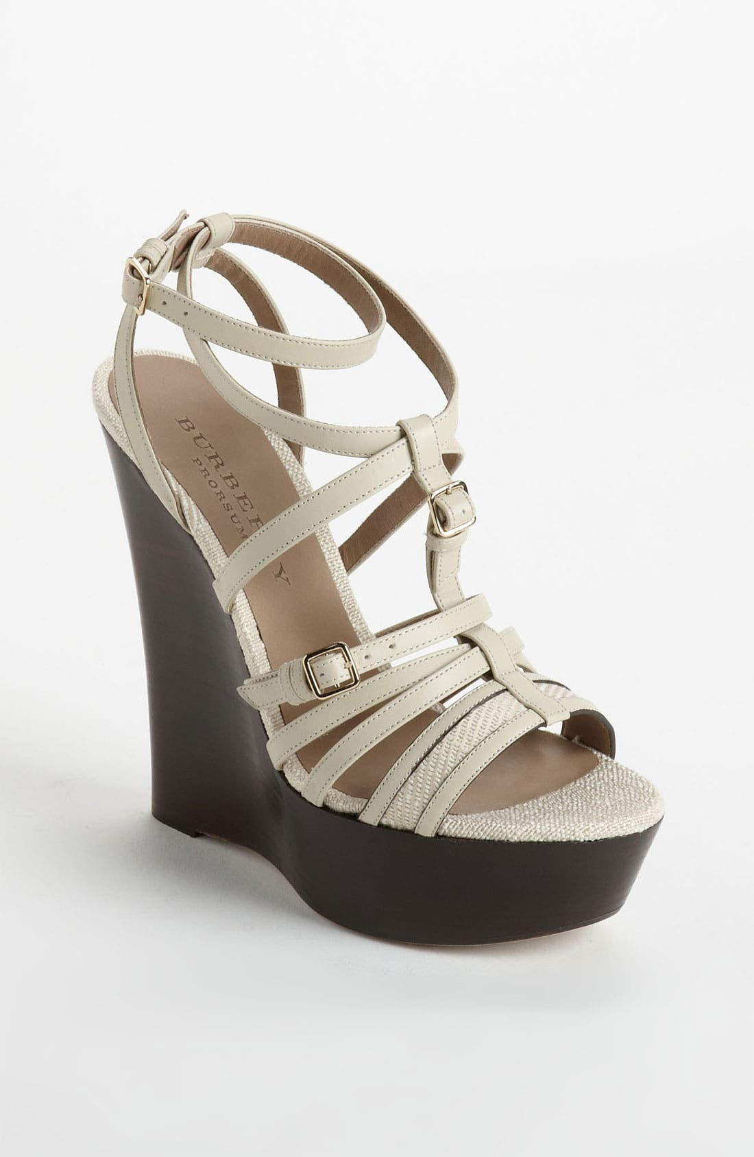Alternate Image 1 Selected - Burberry 'Strone' Wedge Sandal