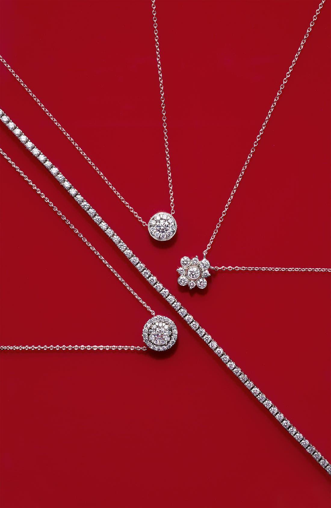 Alternate Image 2  - Kwiat 'Petal' Diamond Pendant Necklace