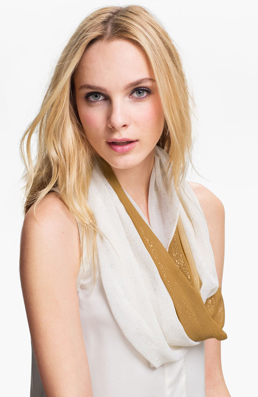 Main Image - Collection XIIX Chiffon Foil Infinity Scarf