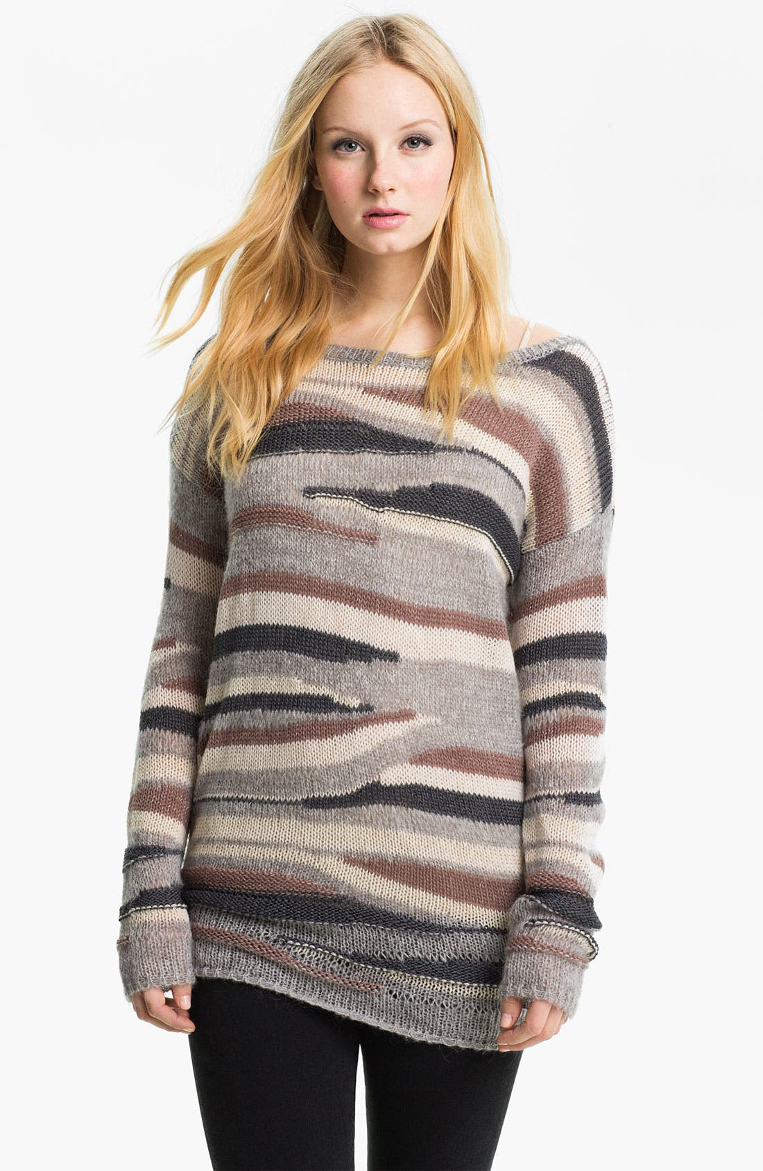 Alternate Image 1 Selected - Hinge® Multicolor Stripe Sweater