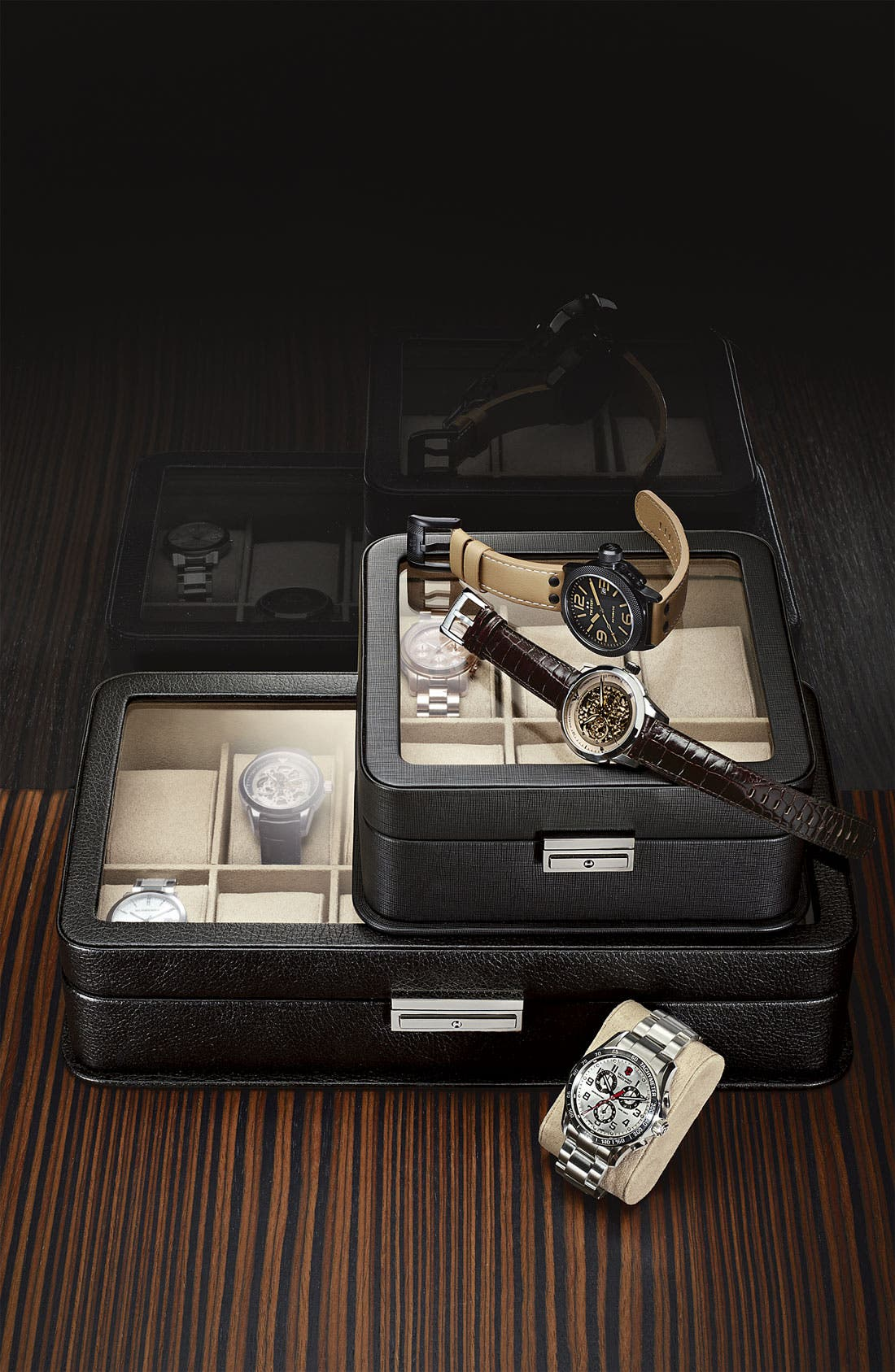 Alternate Image 2  - Emporio Armani 'Meccanico' Automatic Round Watch