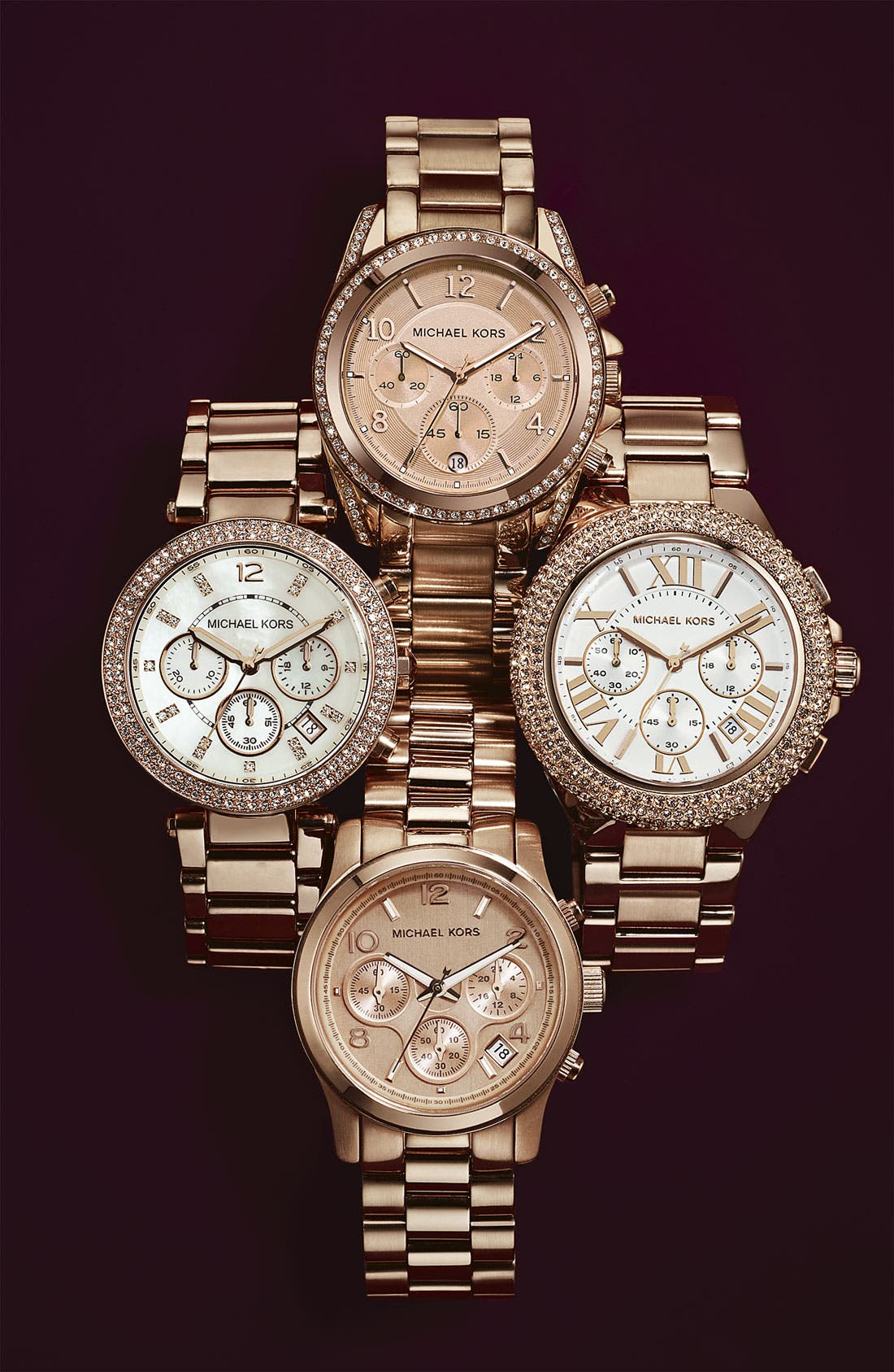 Alternate Image 3  - Michael Kors 'Camille' Chronograph Bracelet Watch, 43mm