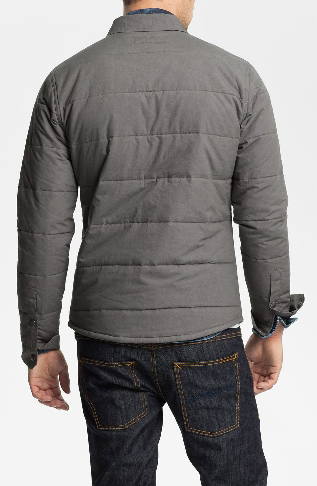 'Cass' Quilted Jacket,                             Alternate thumbnail 2, color,                             Grey