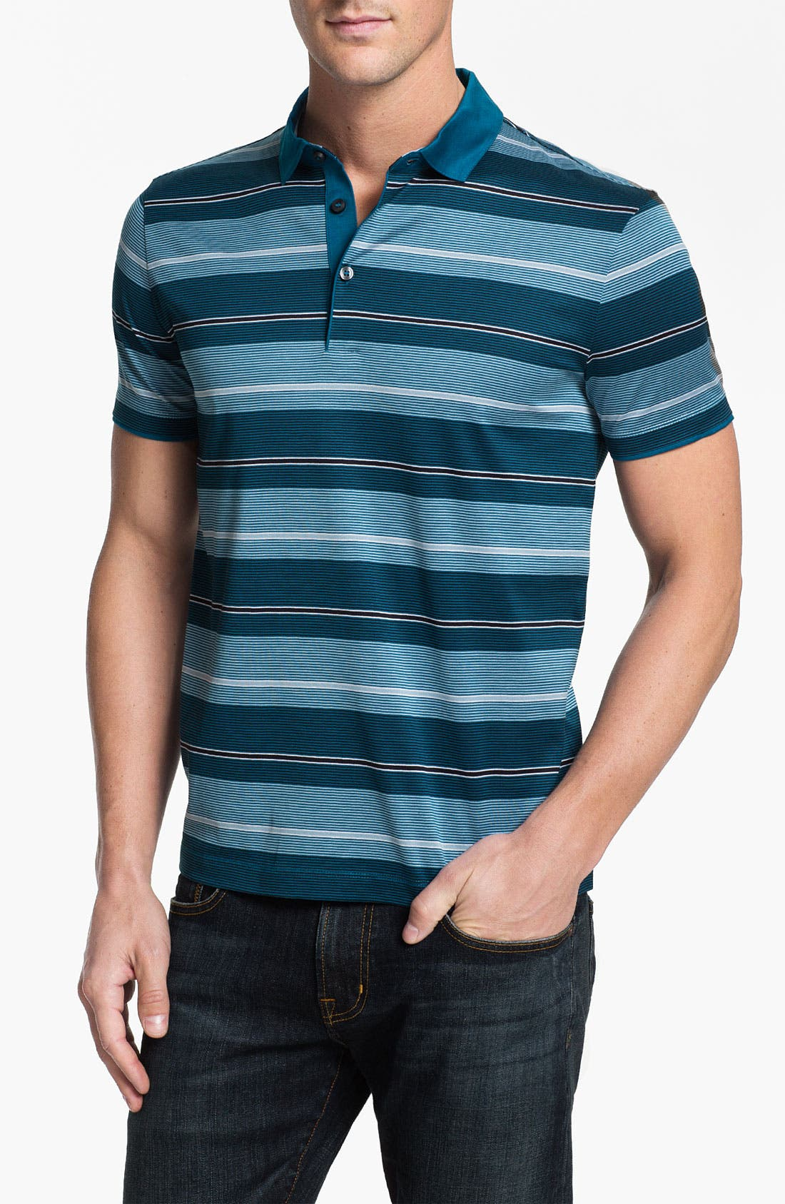 Alternate Image 1 Selected - BOSS HUGO BOSS 'San Remo' Regular Fit Polo