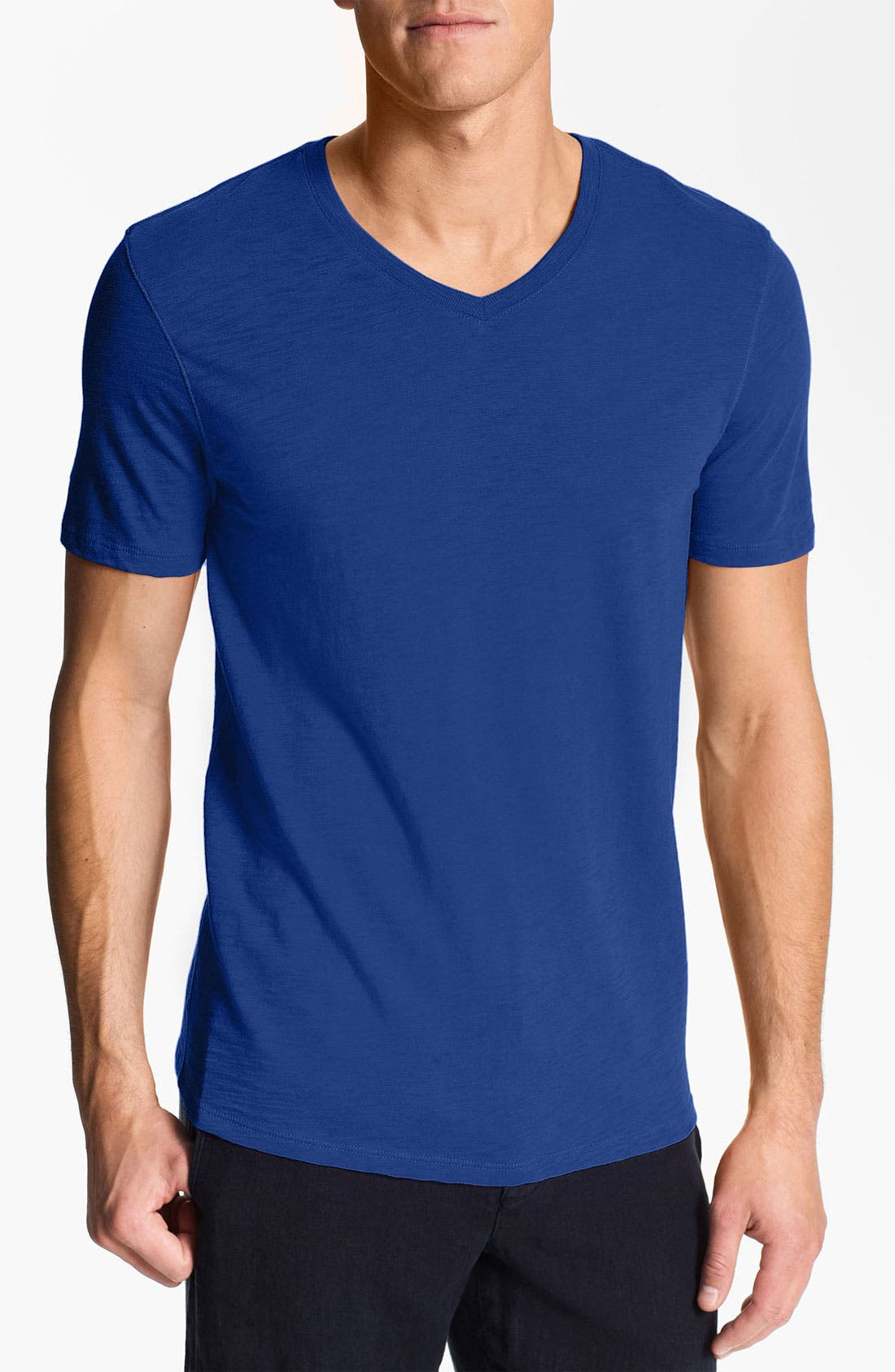 Alternate Image 1 Selected - Vince V-Neck Slub Knit T-Shirt