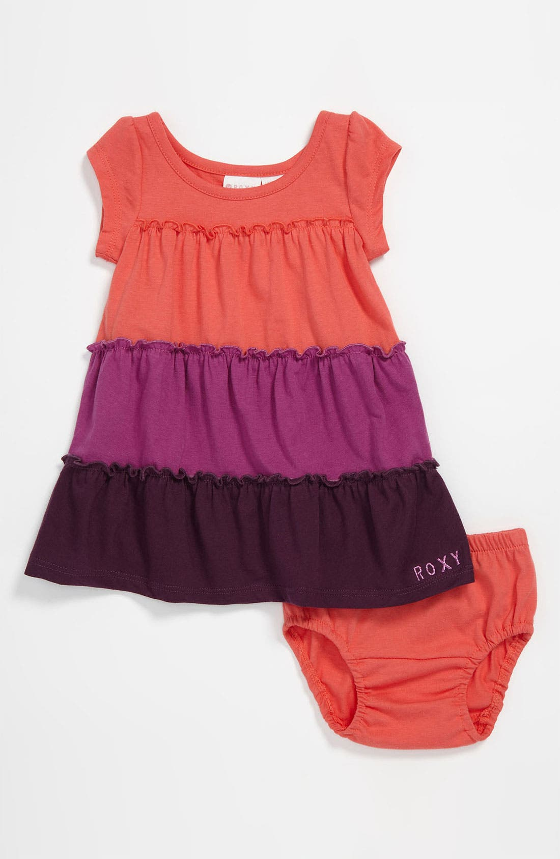 Main Image - Roxy 'Cider' Colorblock Dress (Infant)