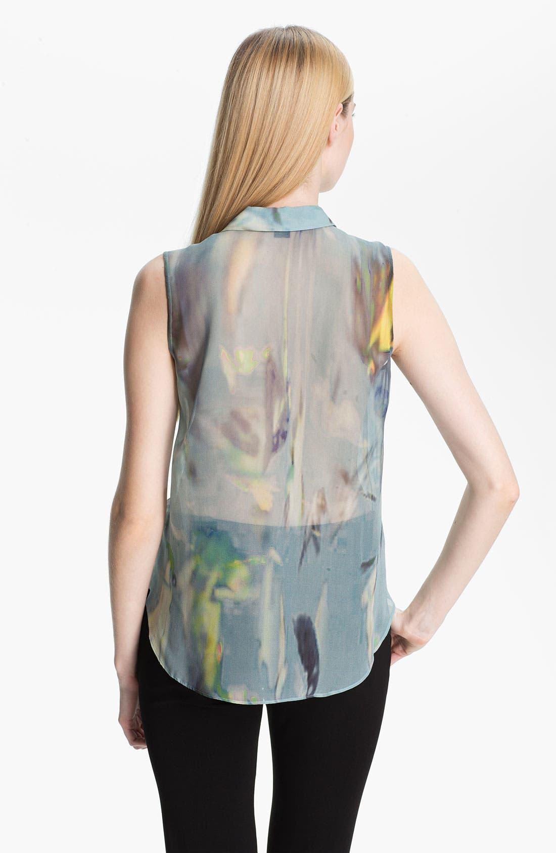 Alternate Image 2  - Theyskens' Theory 'Badge Iplume' Sleeveless Silk Blouse