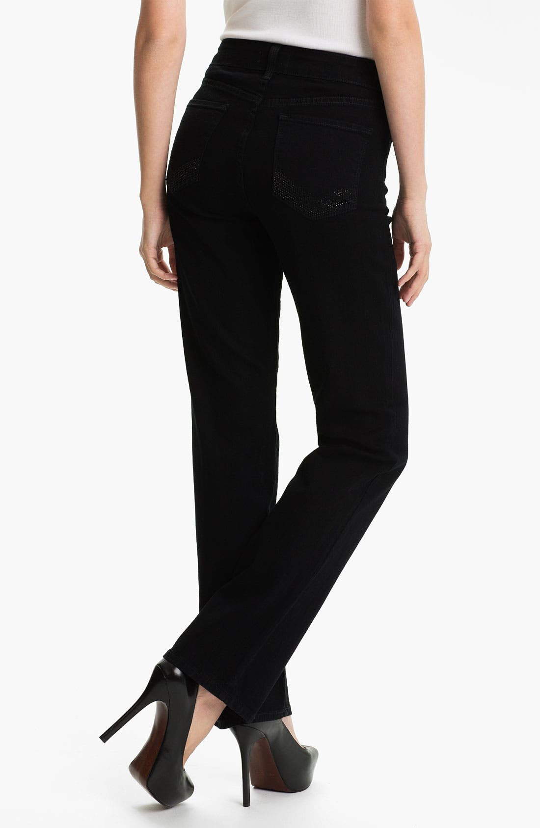 Alternate Image 2  - NYDJ 'Marilyn' Embellished Straight Leg Stretch Jeans