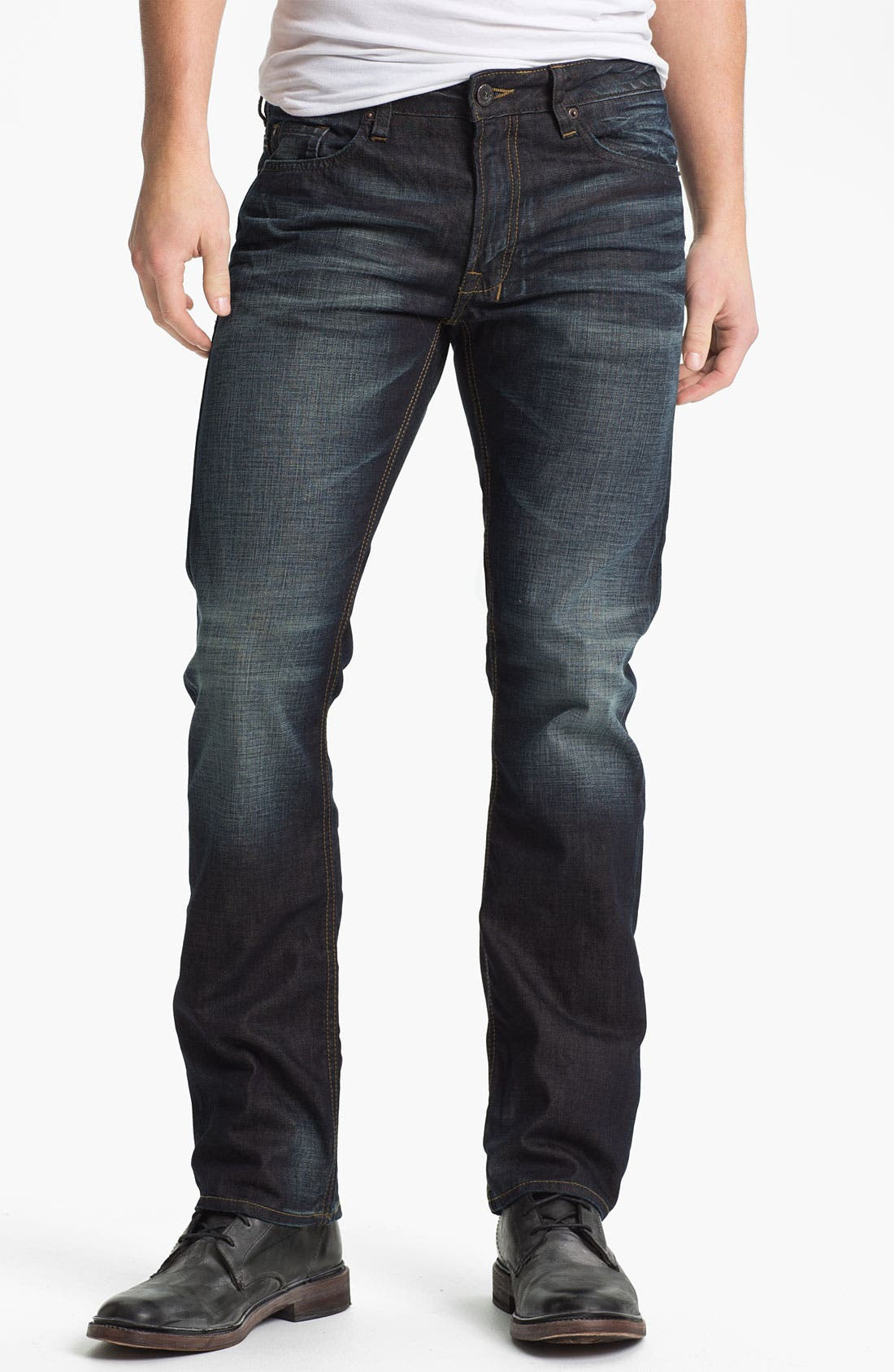 Alternate Image 1 Selected - Buffalo Jeans 'Six' Slim Straight Leg Jeans (Veined/Dirty) (Online Exclusive)