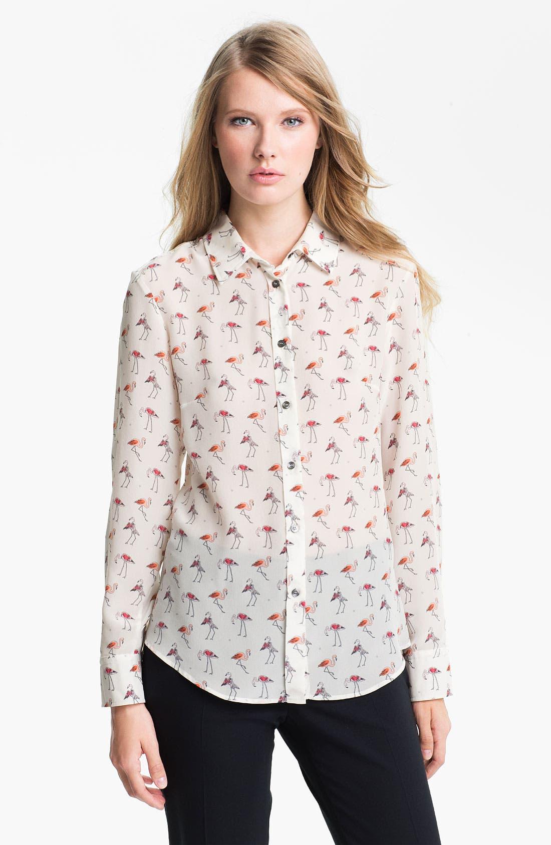 Alternate Image 1 Selected - Weekend Max Mara 'Trau' Silk Shirt