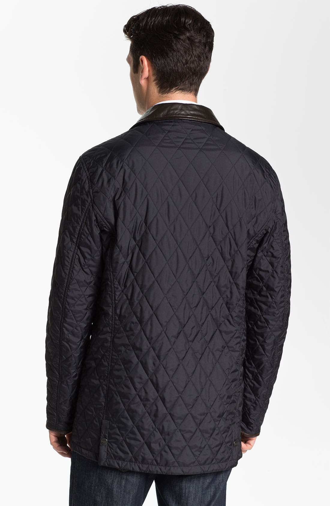 Alternate Image 2  - Salvatore Ferragamo Quilted Barn Coat