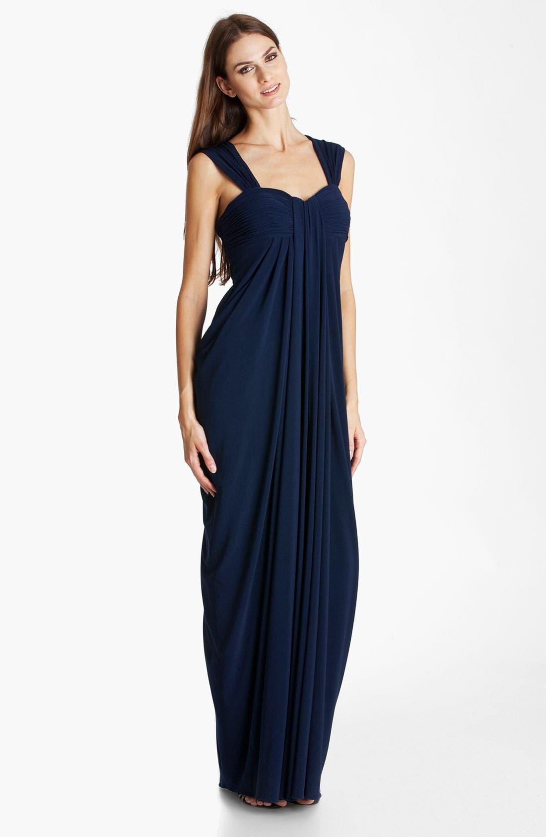 Main Image - JS Boutique Draped Jersey Gown