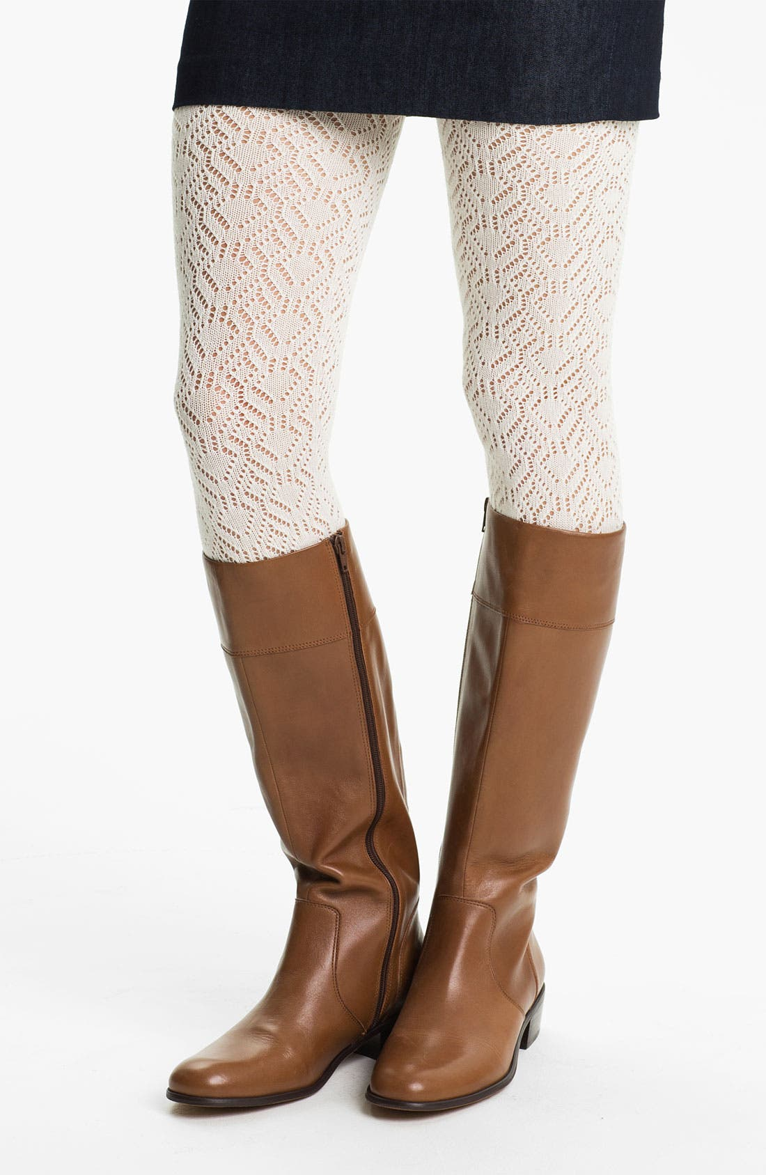 Main Image - Hue Pointelle Sweater Tights