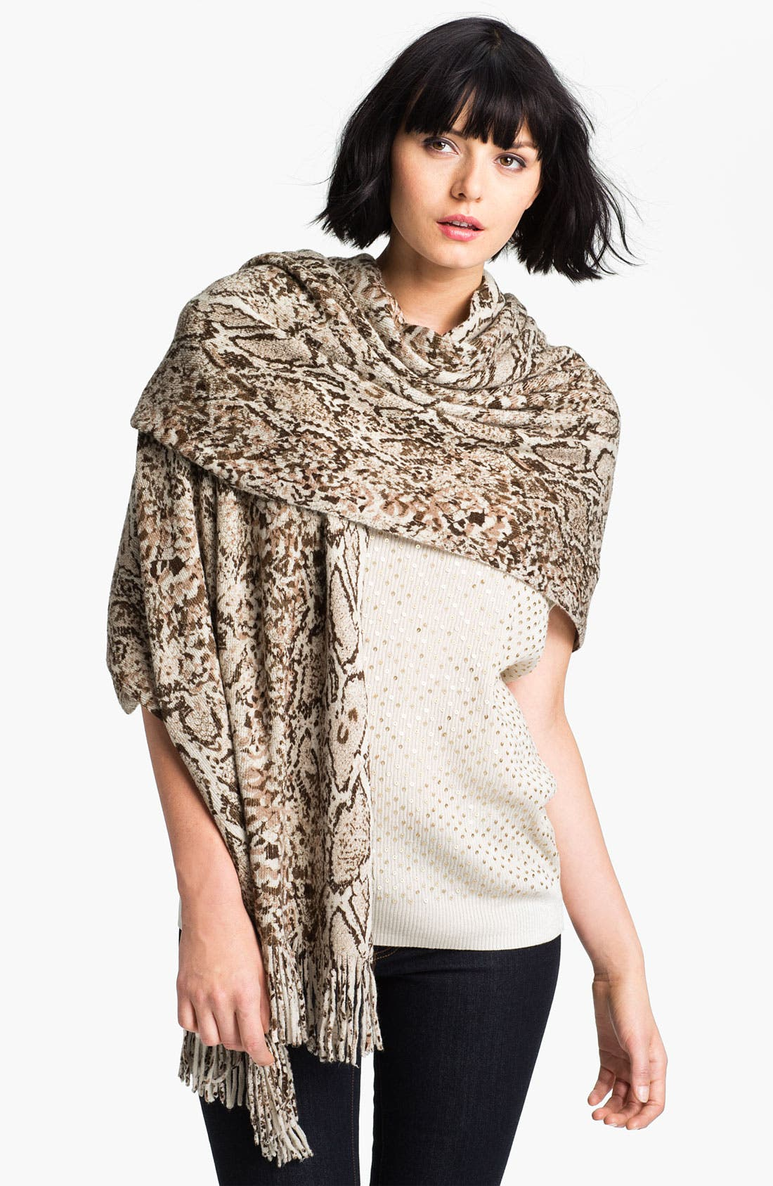 Main Image - Nordstrom Python Print Wrap