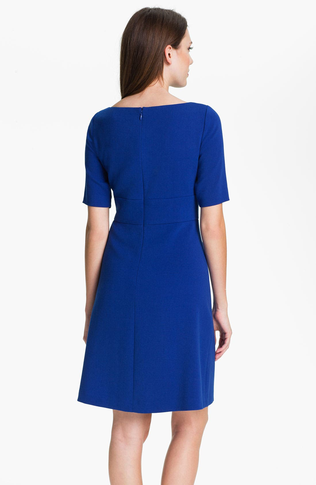 Alternate Image 2  - Eliza J Elbow Sleeve Seam Detail Crepe Dress