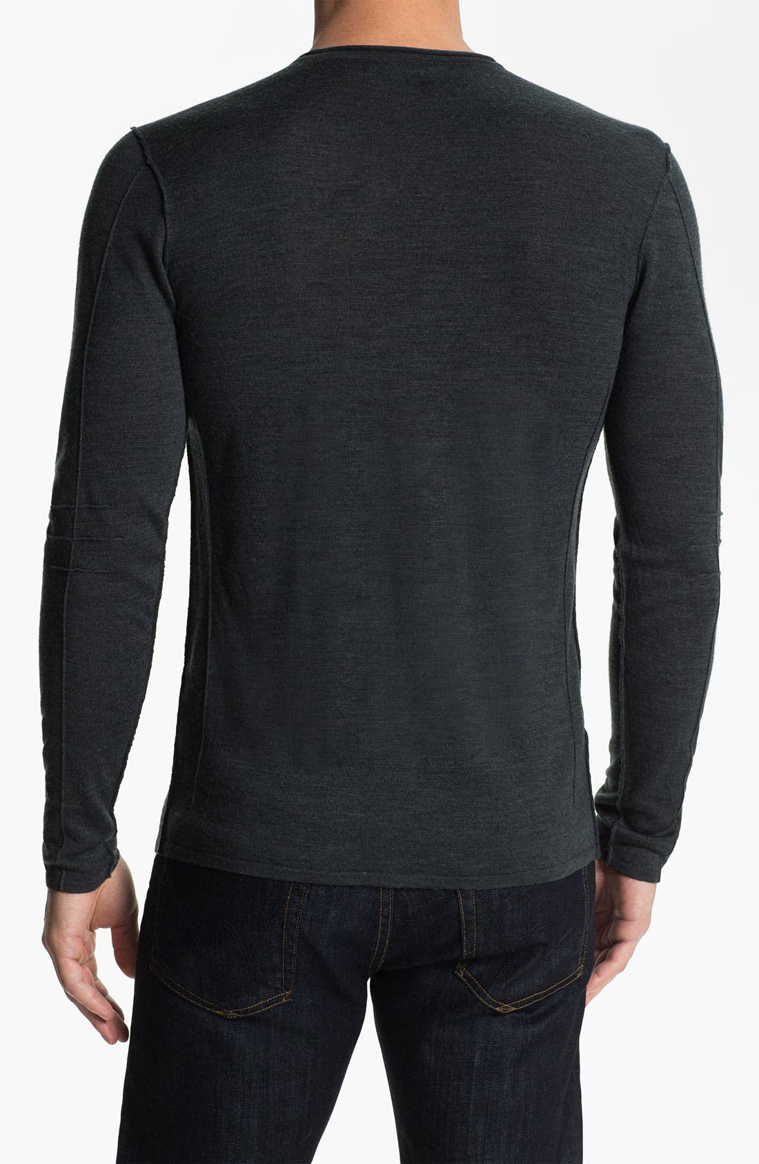 Alternate Image 2  - John Varvatos Star USA Merino Wool Blend V-Neck Sweater