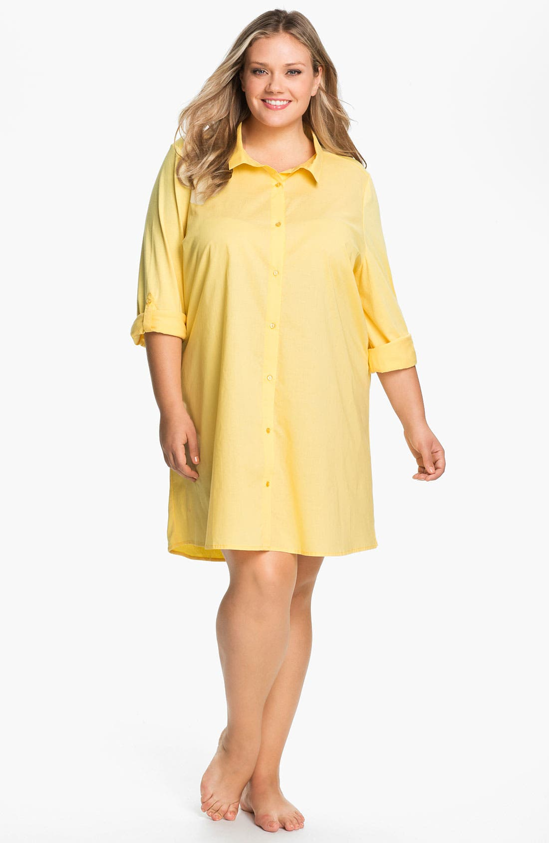 Alternate Image 1 Selected - Shimera 'Mix It Up' Nightshirt (Plus Size)