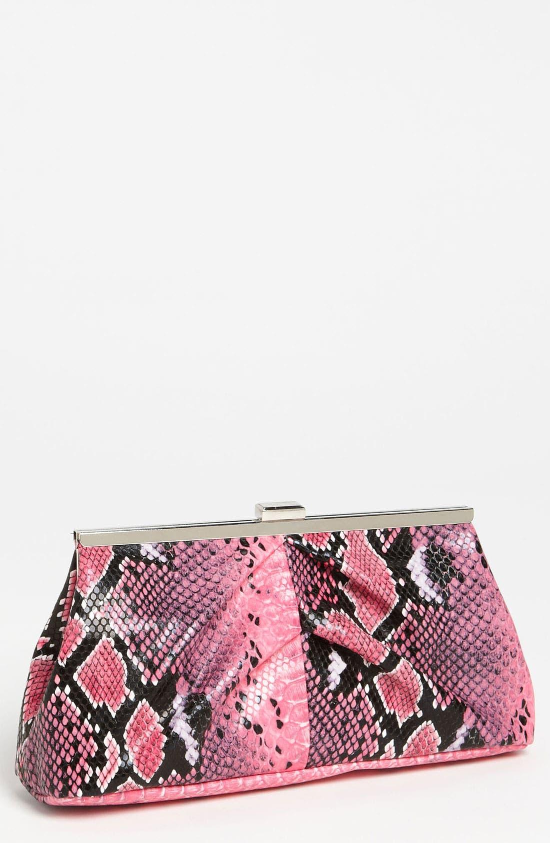 Main Image - Natasha Couture Snake Print Clutch