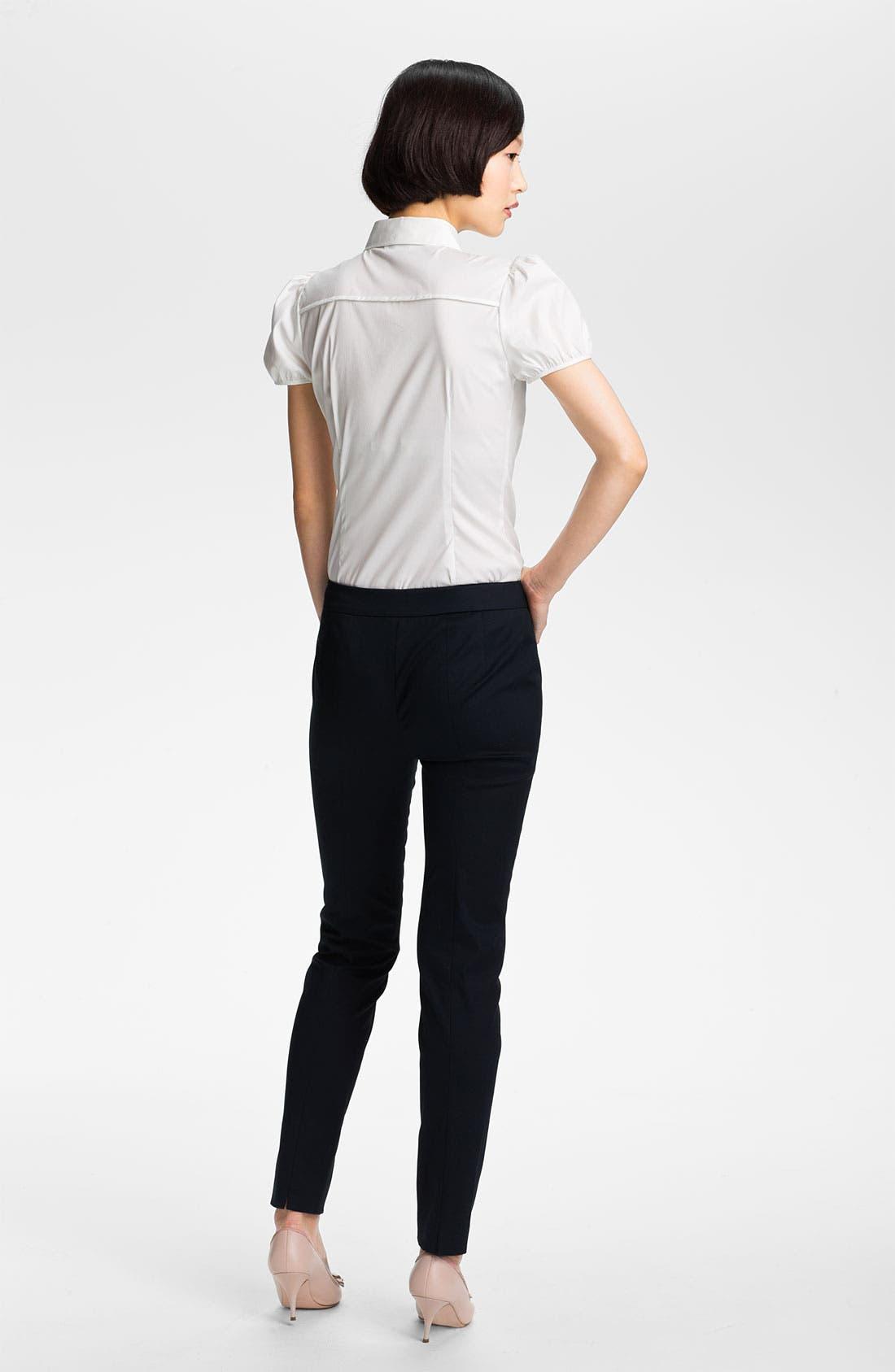 Alternate Image 4  - RED Valentino Skinny Stretch Gabardine Pants