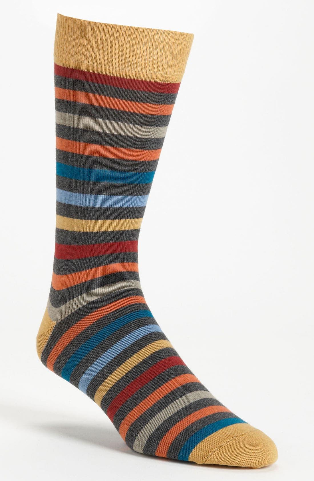Main Image - Pact 'All Over' Stripe Socks