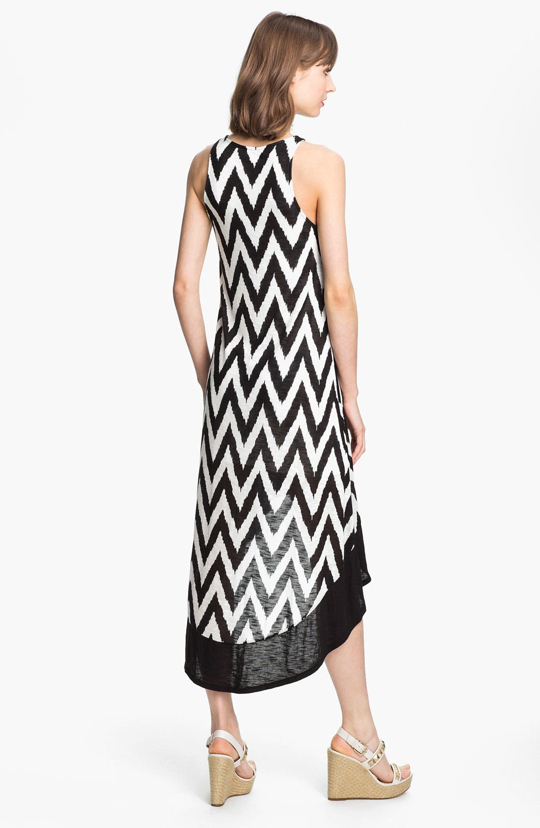 Alternate Image 2  - Ella Moss 'Mazzy' Zigzag Print High/Low Dress