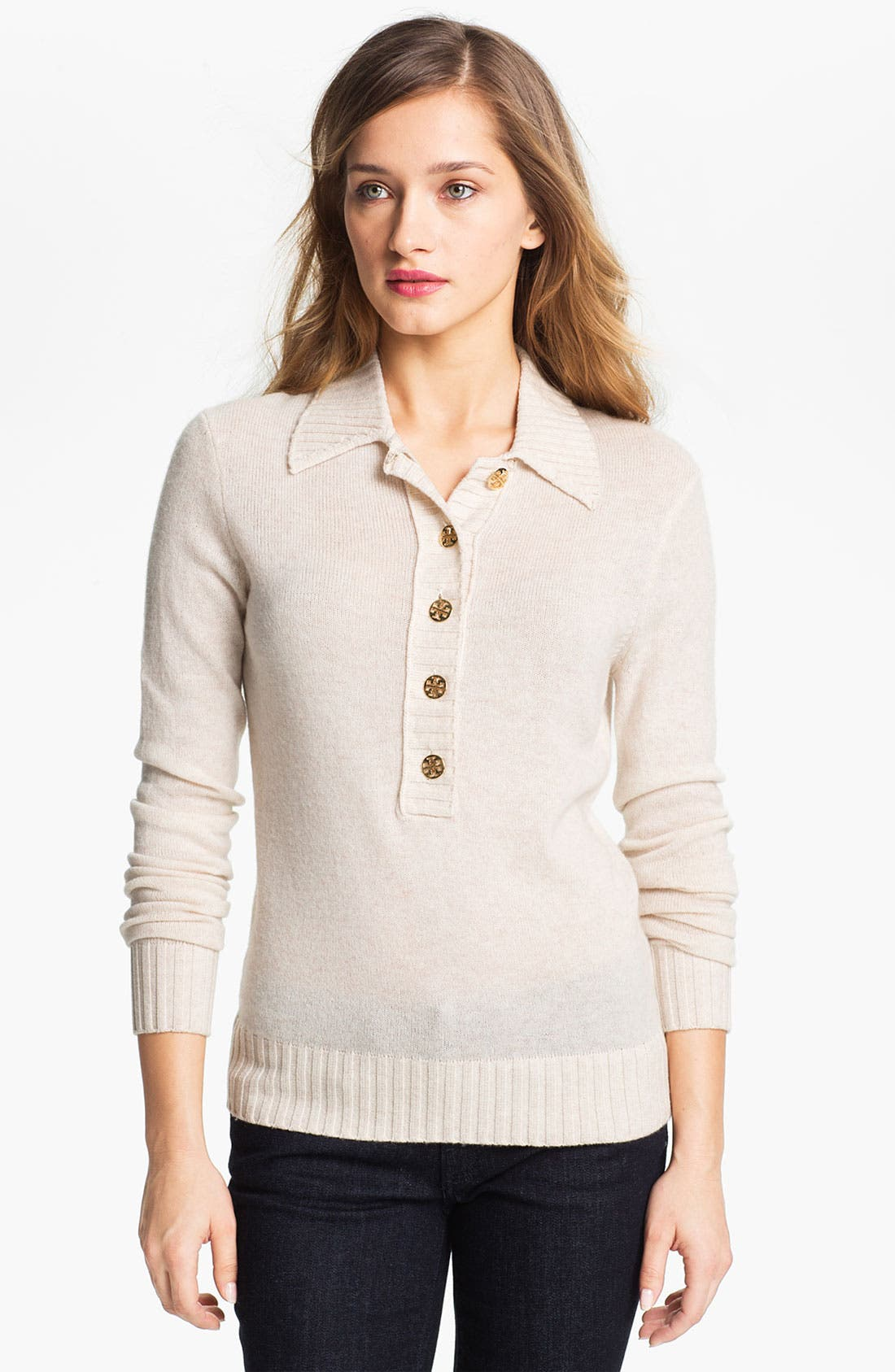 Main Image - Tory Burch 'Gertrude' Wool Blend Sweater