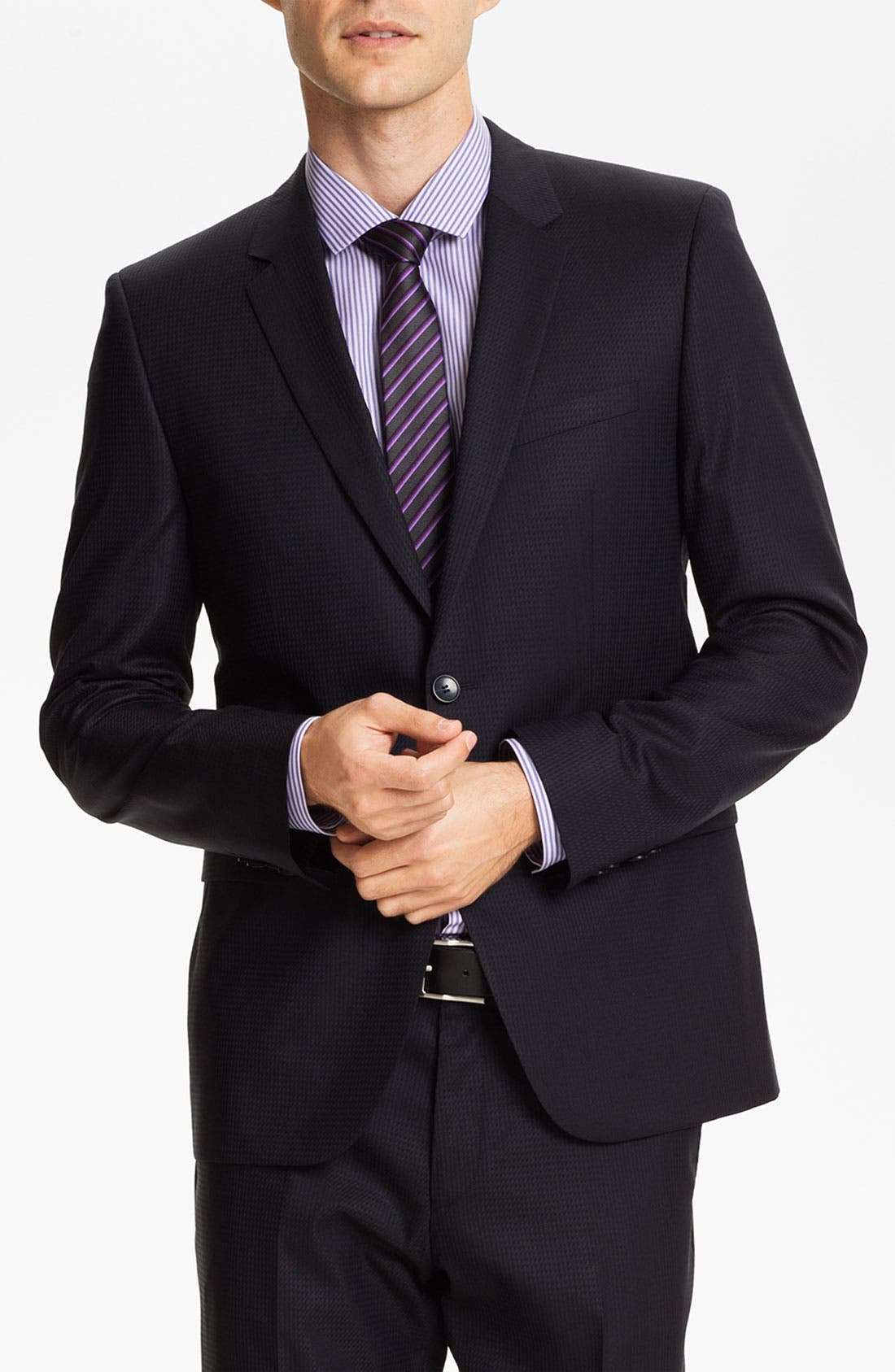 Alternate Image 1 Selected - HUGO 'Aeron/Hamen' Extra Trim Fit Suit