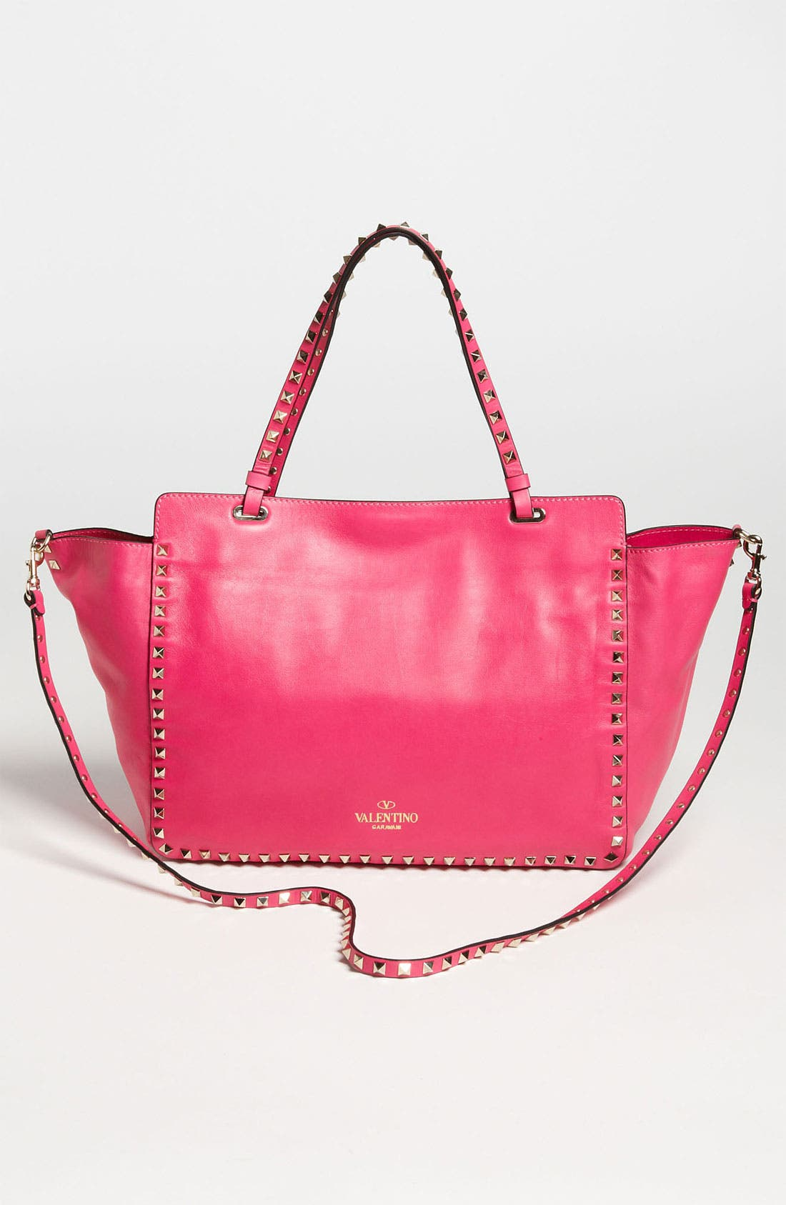 Alternate Image 4  - Valentino 'Rockstud - Medium' Double Handle Leather Tote