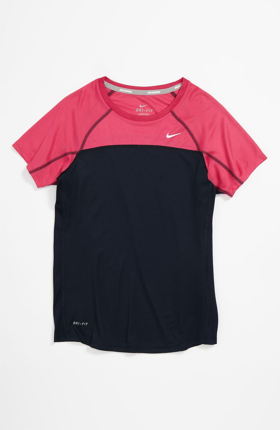 Alternate Image 1 Selected - Nike 'Miler' Top (Big Girls)