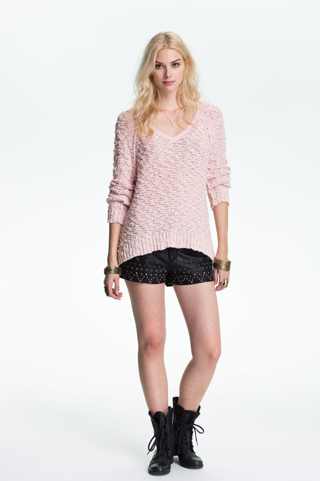 Alternate Image 1 Selected - Free People Sweater & Shorts