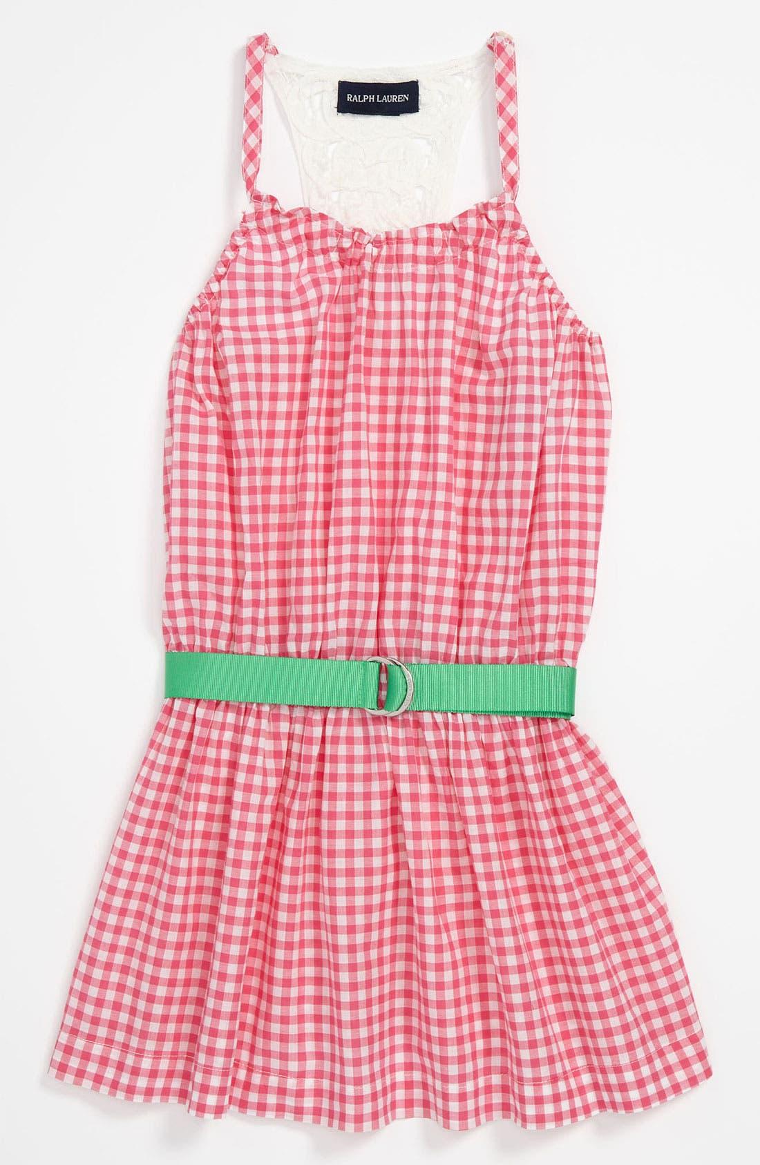 Alternate Image 1 Selected - Ralph Lauren Gingham Dress (Toddler)