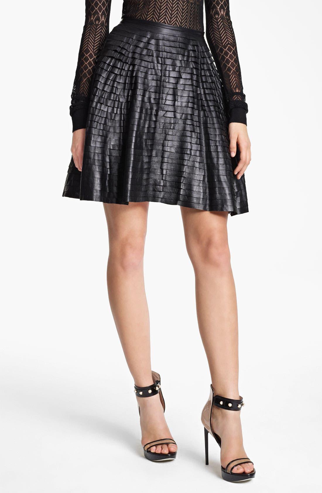 Main Image - Jason Wu Tiered Leather Skirt