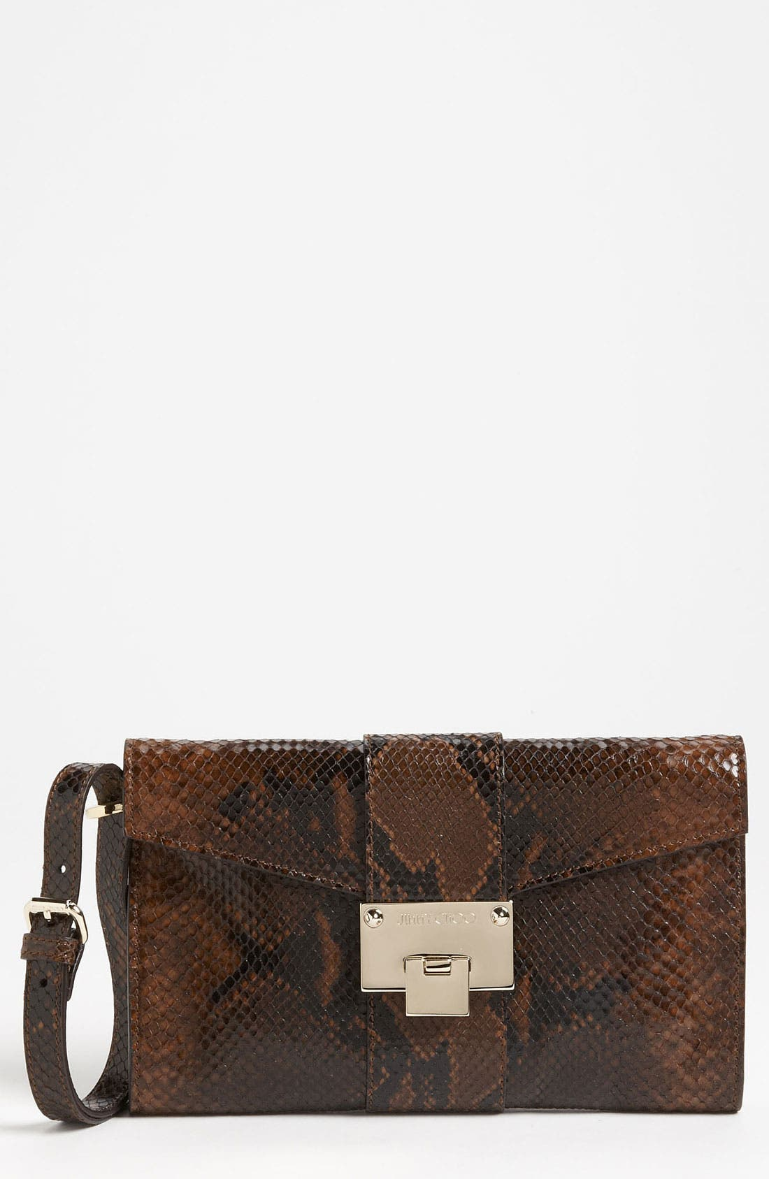 Main Image - Jimmy Choo 'Rivera - Small' Leather Clutch