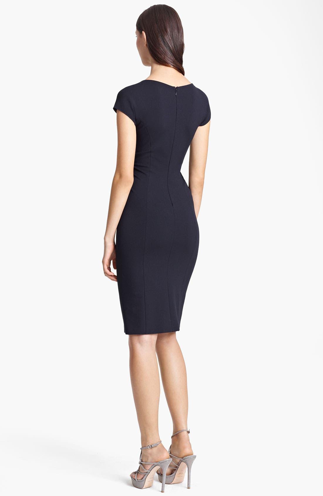 Alternate Image 2  - Armani Collezioni Ruched Jersey Dress