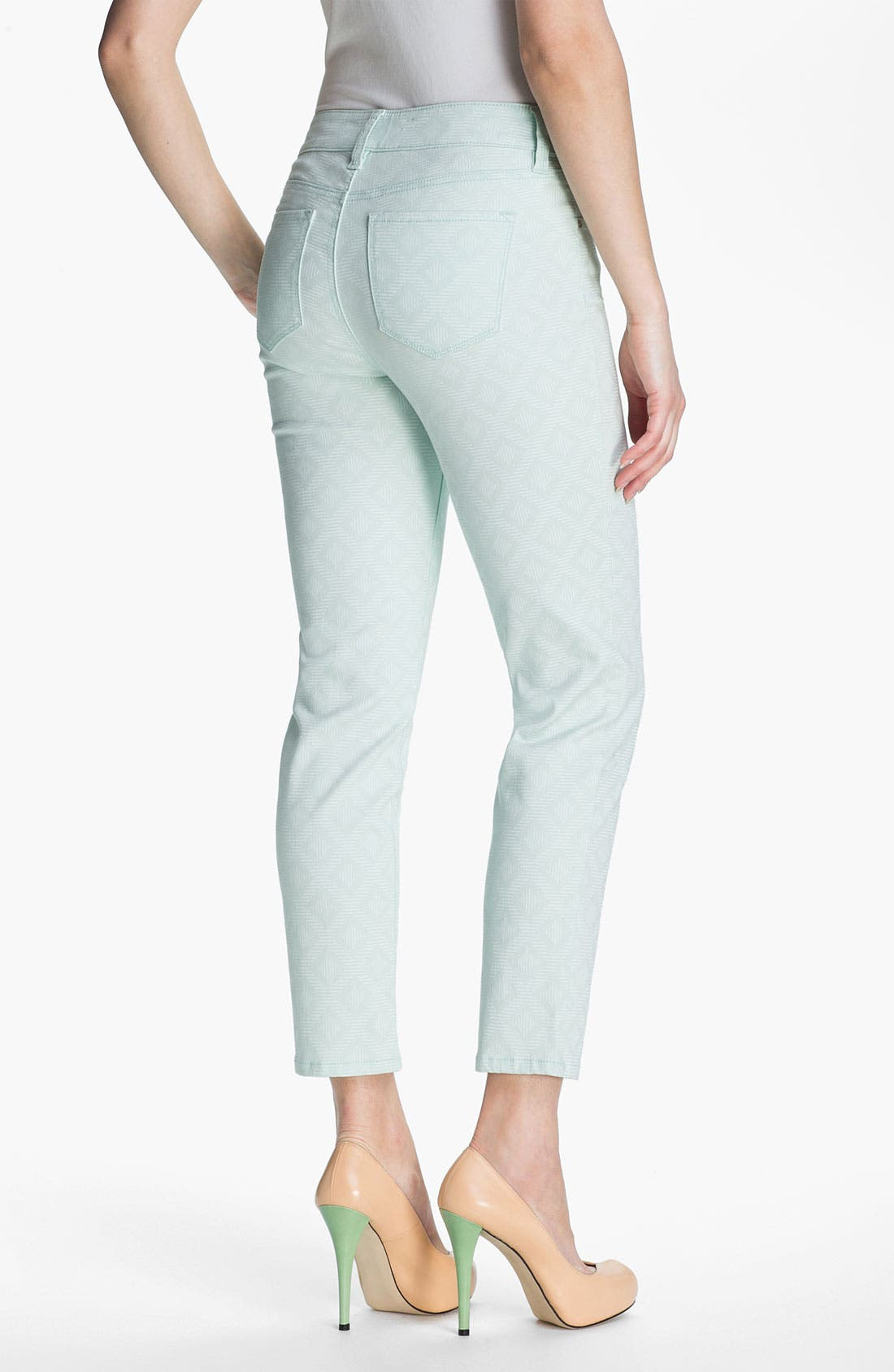 Alternate Image 3  - NYDJ 'Alisha - Jacquard' Skinny Stretch Ankle Jeans