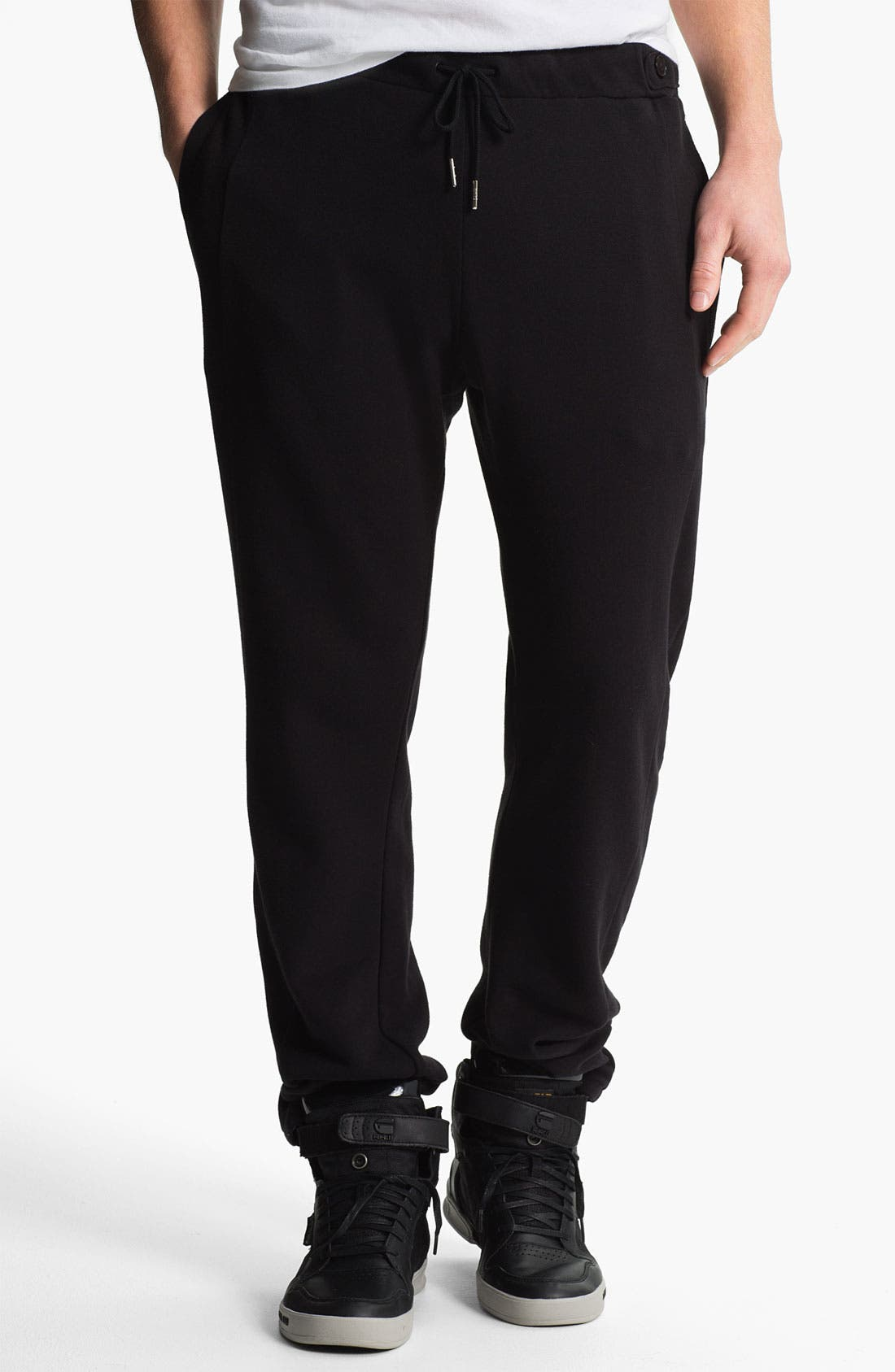 Alternate Image 1 Selected - adidas SLVR 'Curved' French Terry Cotton Sweatpants