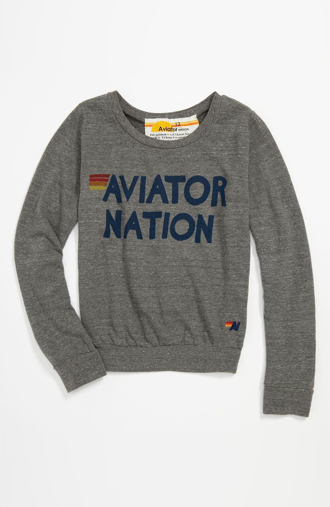 Main Image - Aviator Nation Sweatshirt (Little Girls & Big Girls)
