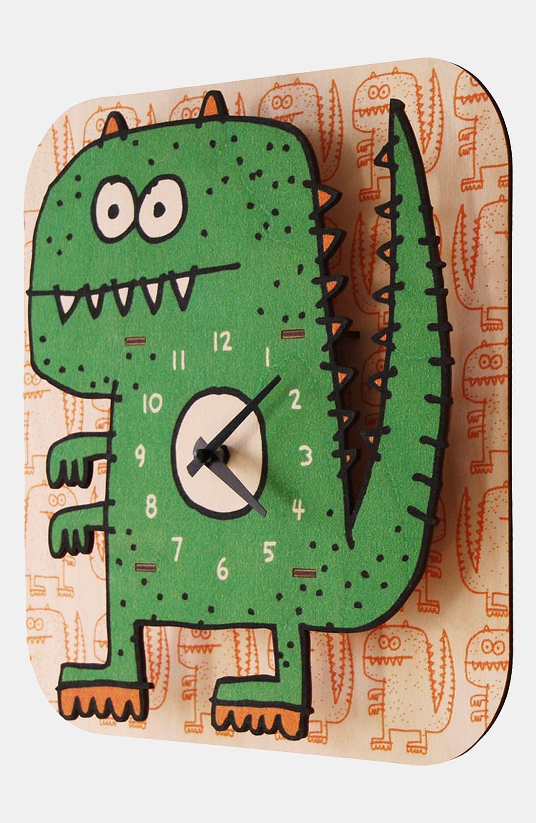 Alternate Image 2  - Modern Moose 'Dinosaur' Clock
