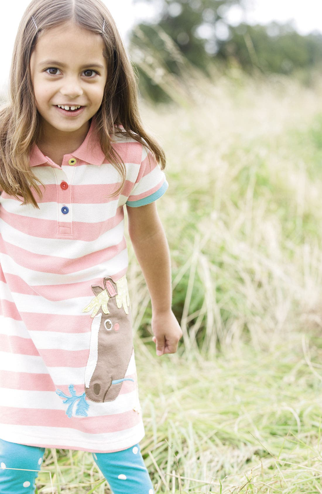 Alternate Image 2  - Mini Boden 'Fun' Appliqué Polo Dress (Toddler, Little Girls & Big Girls)