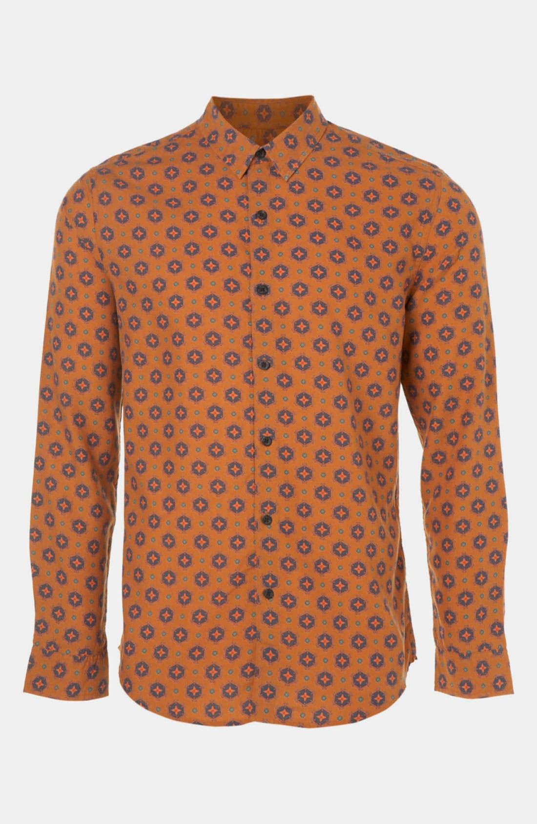 Main Image - Topman 'Smart' Slim Fit Woven Shirt