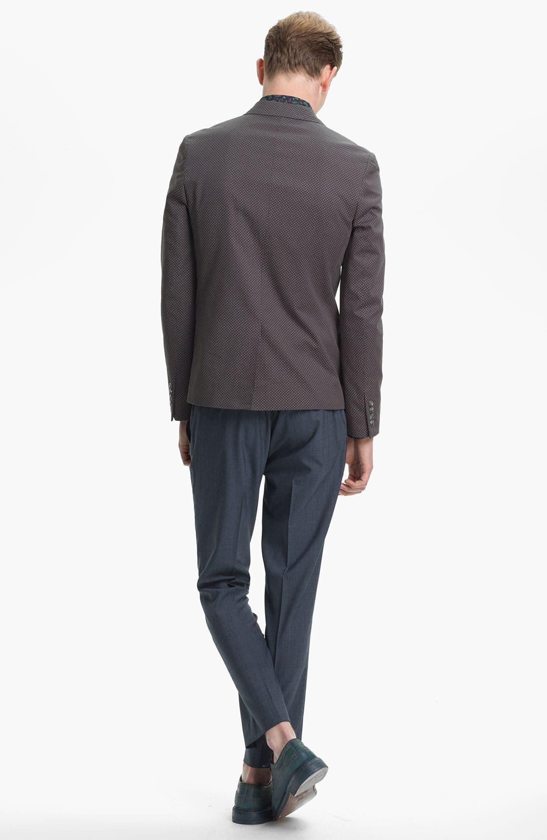 Alternate Image 5  - Topman Pin Dot Skinny Blazer