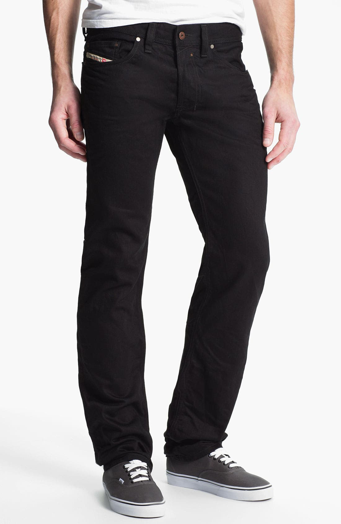 Alternate Image 1 Selected - DIESEL® 'Safado' Slim Fit Jeans (Black)