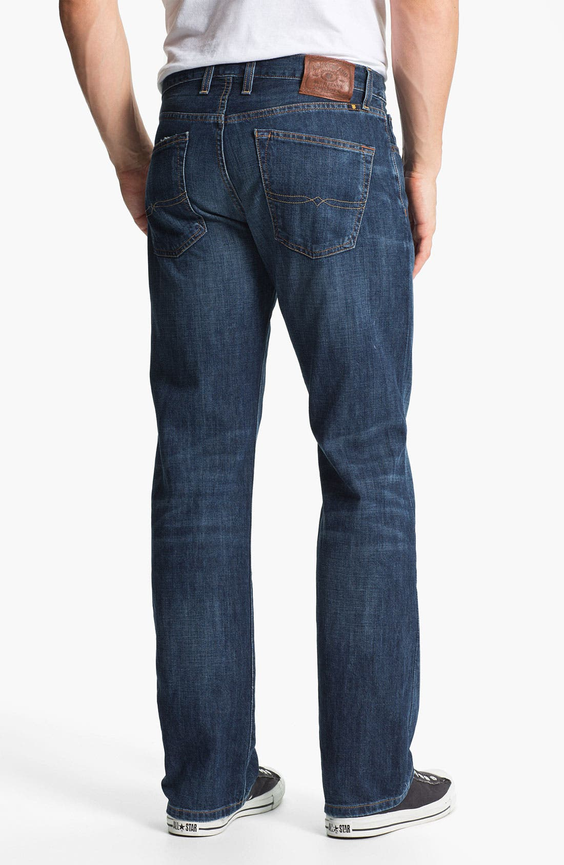 Alternate Image 2  - Lucky Brand '221 Original' Straight Leg Jeans (Medium Temescal)